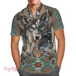 Native American Wolf Hawaii Shirt H011