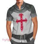 3D Cruisader Knight Amour Hawaii Shirt H001