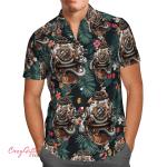 Diving Floral Hawaii Shirt H011