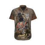 Native American Bear Hawaii Shirt H017