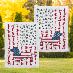 Dachshund Garden American 019 Flag