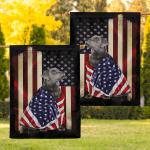 Black Labrador Retriever American Patriot 08 Flag