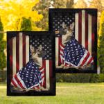 German Shepherd American Patriot 06 Flag