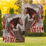 Horse Eagle American 015 Flag