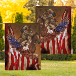 Flag Native American Warrior Eagle Flag F004