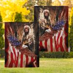 Flag Native American Chief Eagle Flag F002