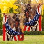 Flag Native American Warrior Eagle Flag F007