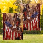 Flag Native American Warrior Eagle Flag F003