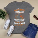 Motorcycle - I'm a grumpyold man. I was born in february T-Shirt