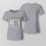Autism. It's not a disability Ladies T-shirt