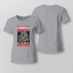 Don't be jealous just because i can still ride a motorcycle Ladies T-shirt