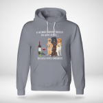 A Woman Cannot Survive On Books Alone... She Also Needs Labradors Hoodie