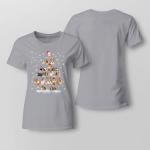 Chrismas - Guinea Pigs Tree Ladies T-shirt