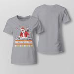 Chrismas - Merry Mimas Ladies T-shirt