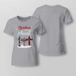 Chrismas - Chrismas Begins With Christ Ladies T-shirt