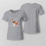 Chrismas - Walkin In A Wiener Wonderland Ladies T-shirt
