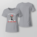 Christmas - On The Naughty List And I Regret Nothing Ladies T-shirt