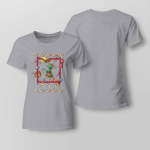 Easily Distracted By Cat & Fabric Ladies T-shirt