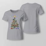 Horse Tree - Christmas Ladies T-shirt