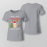 Chrismas - Baby First ... On The Inside Ladies T-shirt