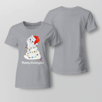 Chrismas -  Merry Kissmyass 2 Ladies T-shirt