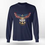 Navy defender of freedom long sleeve tee