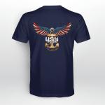 Navy American Eagle Back T-shirt