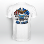Double Flag US Air Force Eagle Back T-shirt