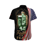 Faith Orver Fear. I Can Do All Things Through. Christ  Who Streng Thens Me Hawaii Shirt