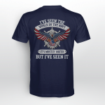 I've seen the world in the navy Back T-shirt