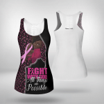 Breast cancer - Fight with god howllow tank top