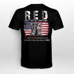 I wear Red Veteran T-Shirt Back Print