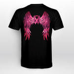 Breast cancer - Angel wing T shirt