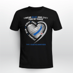 Diabetes awareness - I wear blue and grey for my niece T shirt