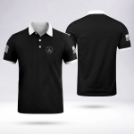 Betsy Ross We The People Polo Shirt Black