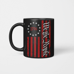 Betsy Ross Flag We The People QNK852F Black Mug