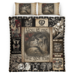 Skull Couple You and me we got this Bedding Set
