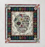 Skull mexico Quilt Blanket