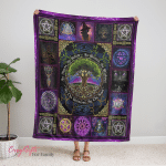 Wicca - Pagan Witch Tree of Life, As Above, So Below Fleece Blanket 176