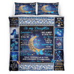 To My Daughter, Sometimes It's Hard To Find Words, Love Mom, Butterfly Bedding Set 254