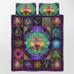 Wicca Pagan Witch Tree of Life Quilt Bed Set 176B