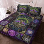 Wicca - Pagan Witch Tree of Life, As Above, So Below Quilt Bed Set 176A