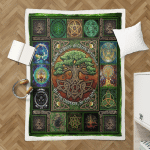Wicca Pagan Witch Tree of Life Sherpa Blanket 176C