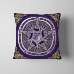 Wicca Pentacle W07 Pillow Case Cover