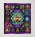 Wicca Pagan Witch Tree of Life Quilt Blanket 176B