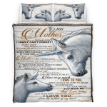 To My Mom Blanket, Mothers Day Gift, Couple Horses 318 Bedding Set