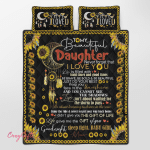 To My Daughter Sunflower 316 Quilt Bed Set