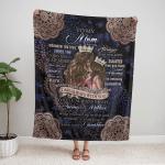 To My Mom Blanket, Mothers Day Gift 317 Fleece Blanket