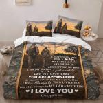Son To Dad Deer Hunting bedding set 310