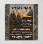 Son To Dad Deer Hunting Quilt Blanket 310